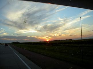 tramonto macchina